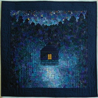 Blue Night finished quilt