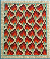 Bargello Dancing Flames quilt