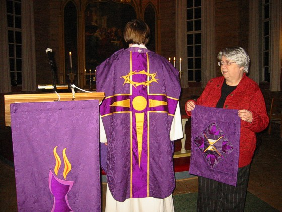 liturgical textiles for fr�ya church kalvaag