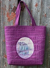 Easy bag with photo fabric panels