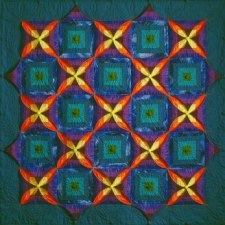 Chameleon Quilt no 1 'Night and Day'