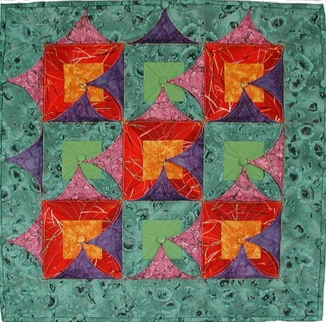 Kameleon Quilt no 5 'Simple Kameleon' diagonal
