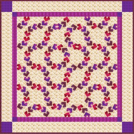 Flying Hearts quilt block